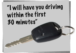 I will have you driving in Chester within the first 30 minutes